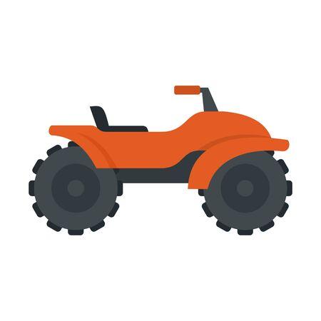Adventure quad bike icon, flat style Vectores