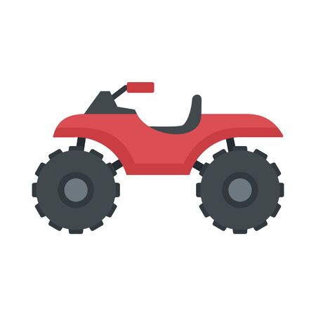 Hunter quad bike icon, flat style Çizim