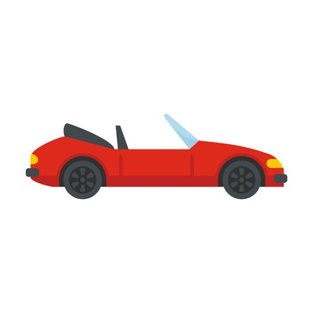 Fast cabriolet icon, flat style