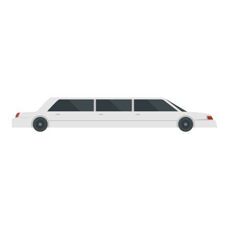 Modern limousine icon, flat style