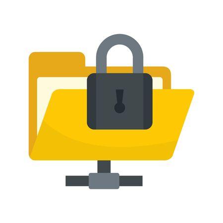 Secured folder icon, flat style