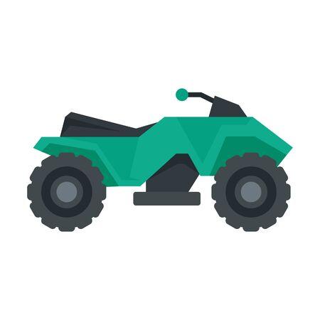 Extreme quad bike icon, flat style