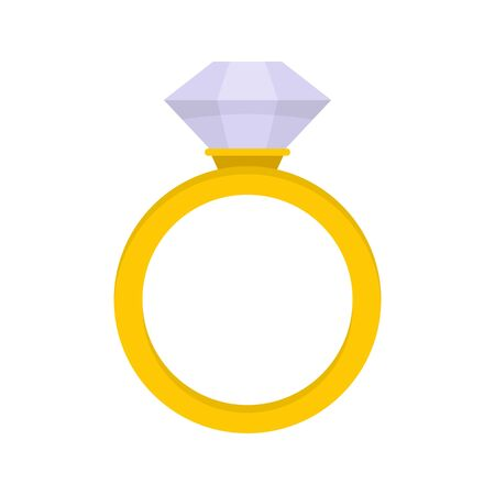 Ceremonial diamond ring icon, flat style Banque d'images - 131869052