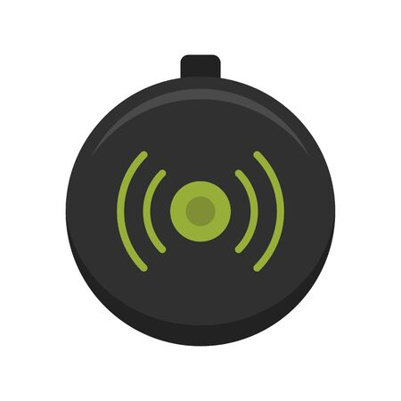 Wireless modern charger icon, flat style