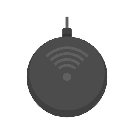 Super wireless charger icon, flat style