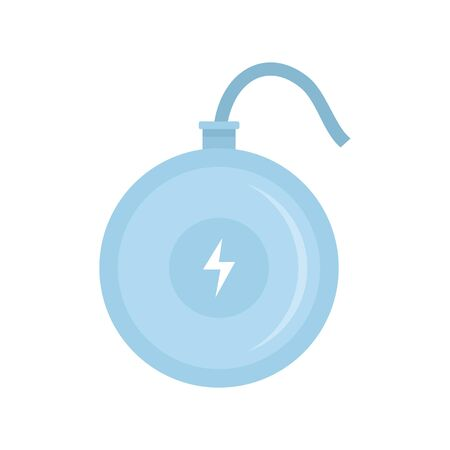 Turbo wireless charger icon, flat style