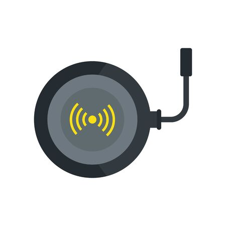 Phone wireless charger icon, flat style