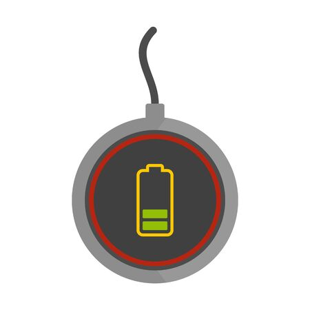 Energy wireless charger icon, flat style