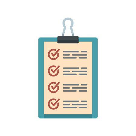 Warehouse checkboard icon, flat style Illusztráció