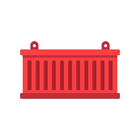 Cargo container icon, flat style