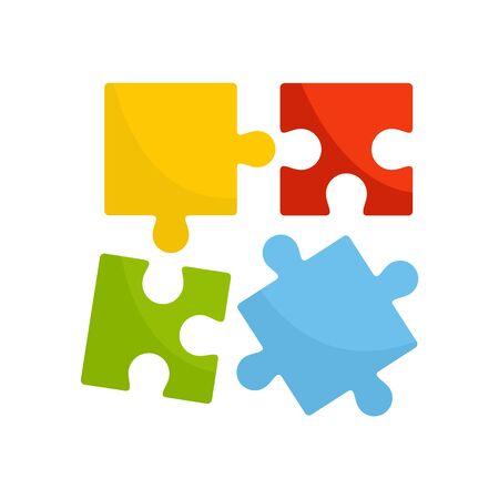 Alzheimer puzzle test icon. Flat illustration of alzheimer puzzle test vector icon for web design 向量圖像