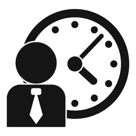 Administrator time icon, simple style Ilustração