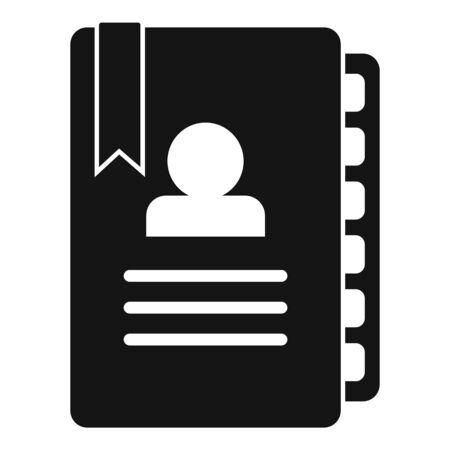Admin notebook icon, simple style