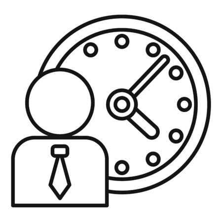 Administrator time icon, outline style