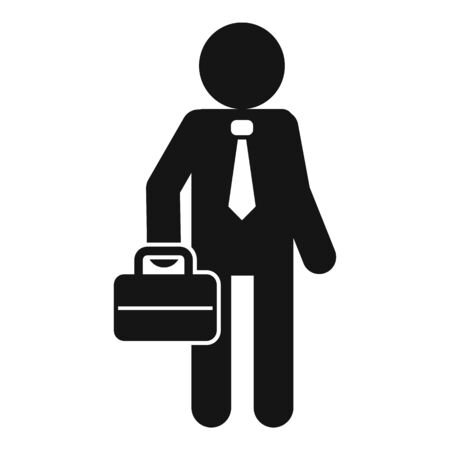Business administrator icon, simple style Illusztráció