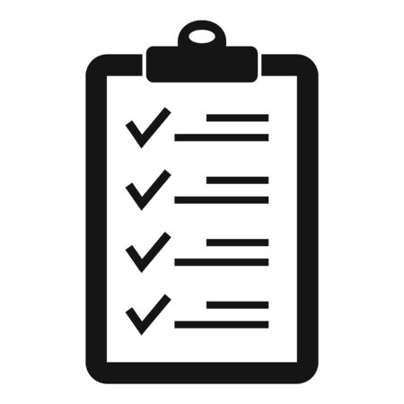Check list icon, simple style