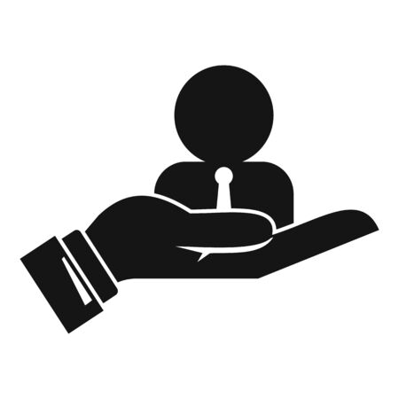 Hand care admin icon, simple style