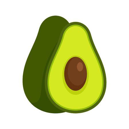 Avocado fruit icon. Flat illustration of avocado fruit vector icon for web design