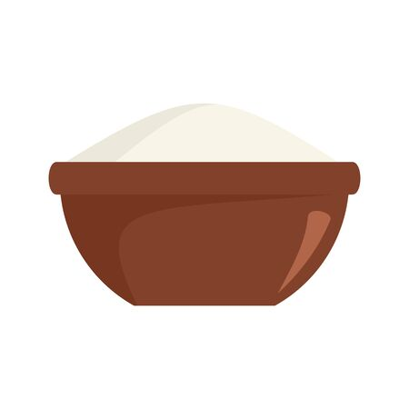 Rice bowl icon. Flat illustration of rice bowl vector icon for web design