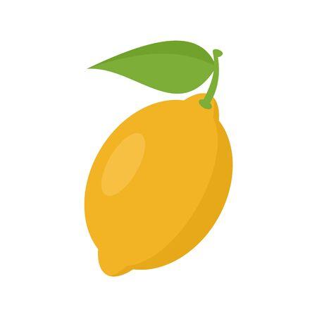 Lemon fruit icon. Flat illustration of lemon fruit vector icon for web design