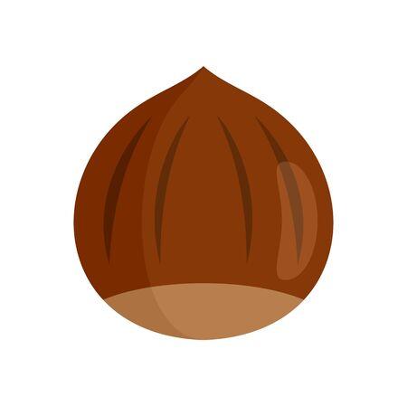 Hazelnut icon. Flat illustration of hazelnut vector icon for web design