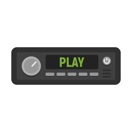 Fm radio car audio icon. Flat illustration of fm radio car audio vector icon for web design