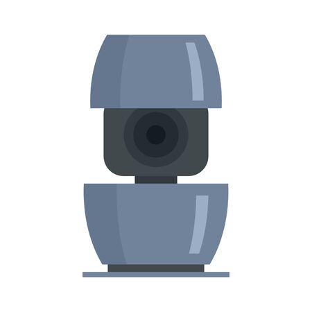 Life smart speaker icon. Flat illustration of life smart speaker vector icon for web design Çizim