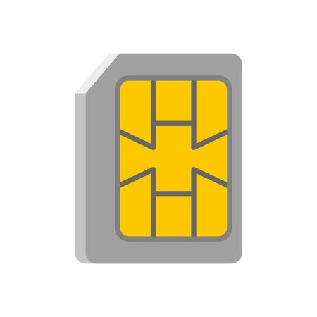 Lte sim card icon, flat style