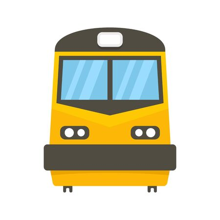 Front of train icon, flat style