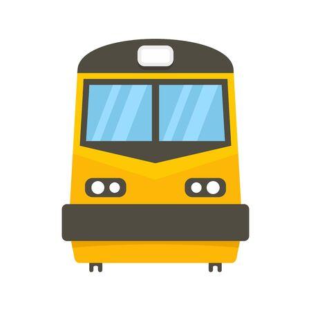 Voorkant van treinpictogram, vlakke stijl