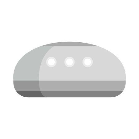 Wireless smart speaker icon. Flat illustration of wireless smart speaker vector icon for web design