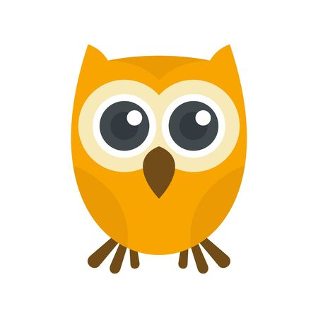 Owl icon. Flat illustration of owl vector icon for web design Ilustração