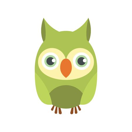Owl bird icon. Flat illustration of owl bird vector icon for web design