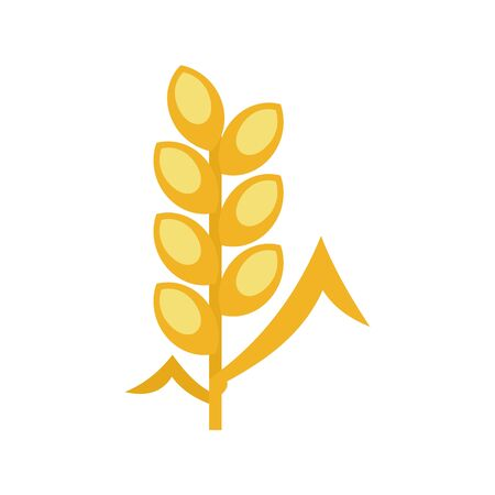 Wheat icon, flat style