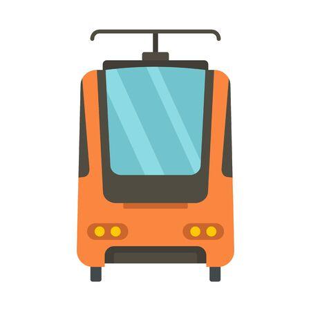 Electric train icon, flat style  イラスト・ベクター素材