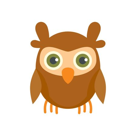 Knowledge owl icon. Flat illustration of knowledge owl vector icon for web design