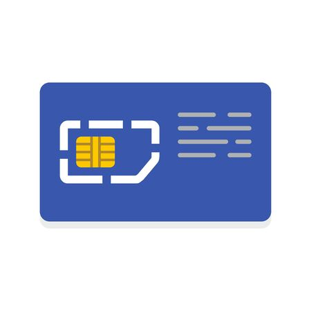 Mobile sim card icon, flat style
