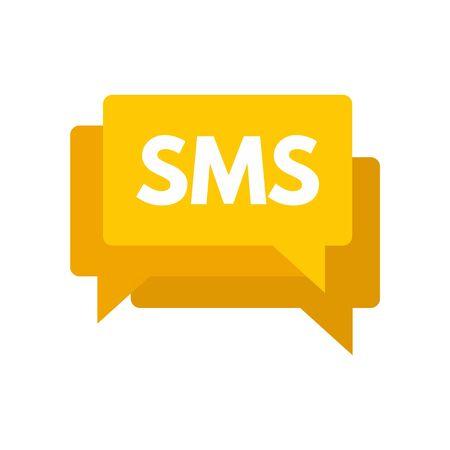 Sms marketing icon, flat style  イラスト・ベクター素材