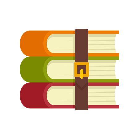 Archive books icon, flat style Çizim