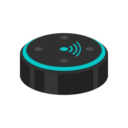 Ai smart speaker icon, flat style