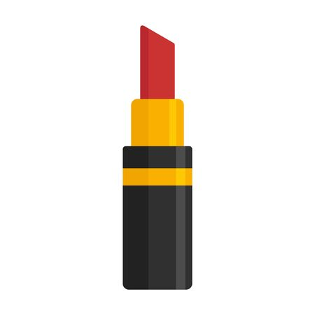 Fashion lipstick icon, flat style Stock Illustratie