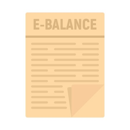 Internet money balance icon. Flat illustration of internet money balance vector icon for web design