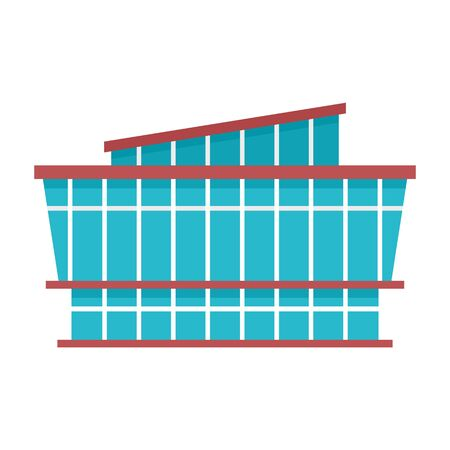 Mall icon, flat style