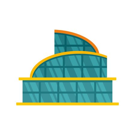 Glass mall icon, flat style