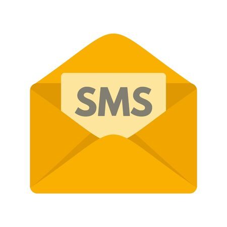 Sms inbox icon, flat style