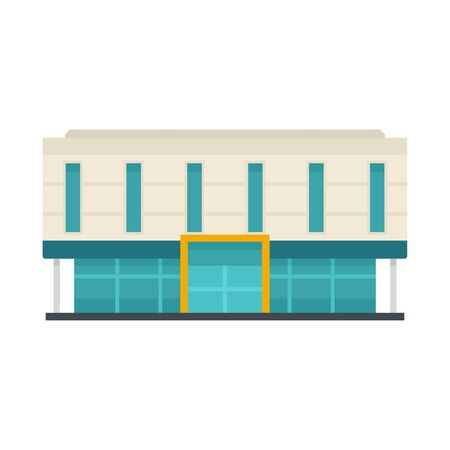 Office business mall icon, flat style