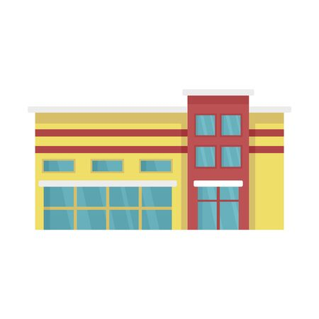 Commercial mall icon, flat style