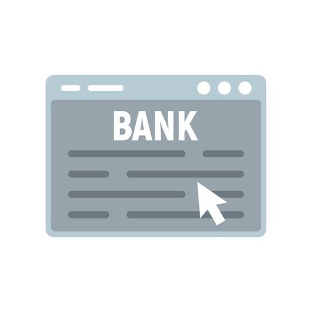 Web banking icon, flat style Banque d'images - 131937702