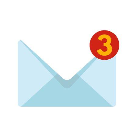 New mail inbox icon, flat style  イラスト・ベクター素材