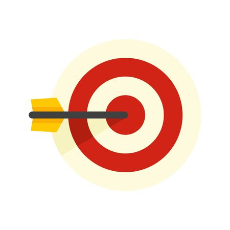 Sms marketing target icon, flat style Illustration